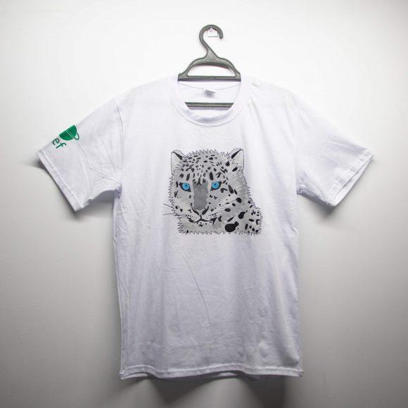 Белая футболка с принтом илбирса