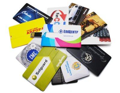 Флешки-визитки с полноцветной печатью
