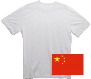 Белая футболка из Китая